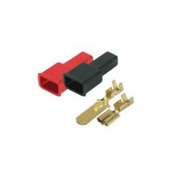 Faston e coprifaston maschio 2,86mm - confezione 10pz