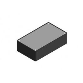 Contenitore in plastica nero con coperchio in allumino - dimensioni 160x45x95