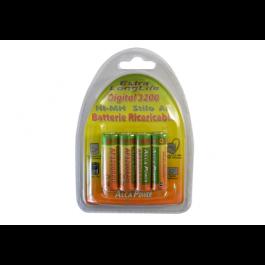 Batteria Ni-Mh stilo 1,2V 3200mAh - Confezione da 4 batterie