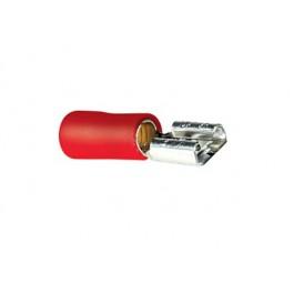 Faston femmina 6,35mm preisolato rosso - confezione da 20pz