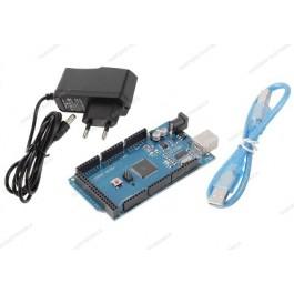 MEGA 2560 R3 CH340 (Arduino Compatibile) + Alimentatore switching 9V 1A + cavo USB
