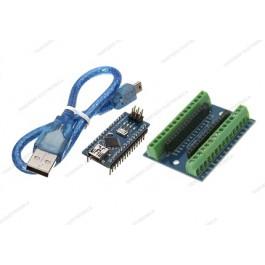 Nano V3.0 CH340 (Arduino Compatibile) + screw shield + cavo mini USB