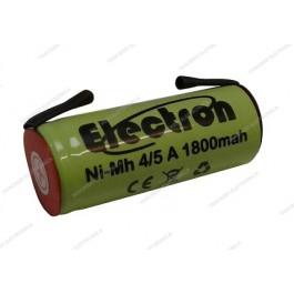 Batteria Ni-Mh 4/5 A 1,2V 1800mAh con terminali