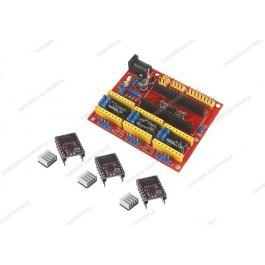 CNC shield V4 + 3 driver DRV8825 con dissipatore