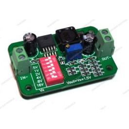 Convertitore DC-DC step-down LM2596S con dip switch di regolazione
