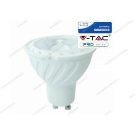 Faretto led V-TAC GU10 6.5W chip samsung - 4000k bianco naturale - VT-247