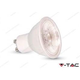 Faretto led V-TAC GU10 7W dimmerabile - 3000k bianco caldo - VT-227D