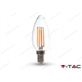 Lampadina led V-TAC a candela 4W - attacco E14 - 2700k bianco caldo - VT-1986