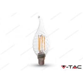 Lampadina led V-TAC a fiamma 4W dimmerabile - attacco E14 - 2700k bianco caldo - VT-1995D