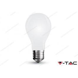 Lampadina led V-TAC A60 4W white cover - attacco E27 - 6400k bianco freddo - VT-1939
