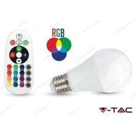 Lampadina led V-TAC A60 6W - attacco E27 - RGB e 4000k bianco naturale - VT-2022