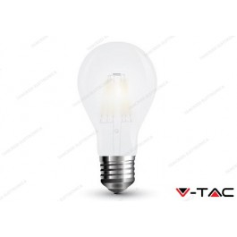 Lampadina led V-TAC A60 7W frost cover - attacco E27 - 6400k bianco freddo - VT-2047