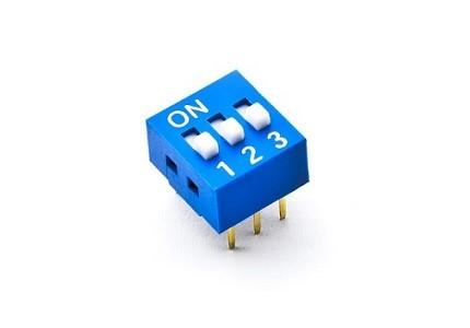Dip switch orizzontale - 3 vie