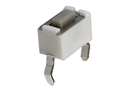 Micropulsante da circuito stampato con tasto nero - 6x3,5mm altezza 5mm - 12Vcc 50mA - confezione da 10pz