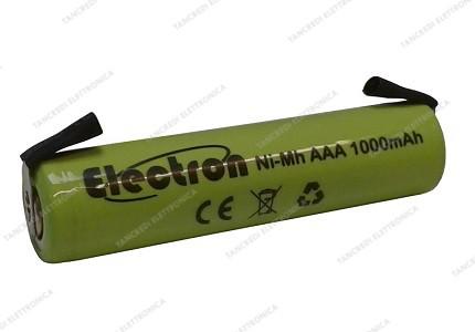 Batteria Ni-Mh Ministilo 1,2V 1000mAh con terminali a saldare