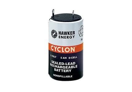 Accumulatore cilindrico al piombo 2V 5Ah