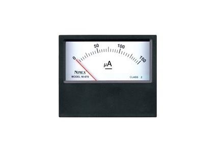 Microamperometro professionale a bobina mobile per misure in corrente continua. Portata 0 - 100uA