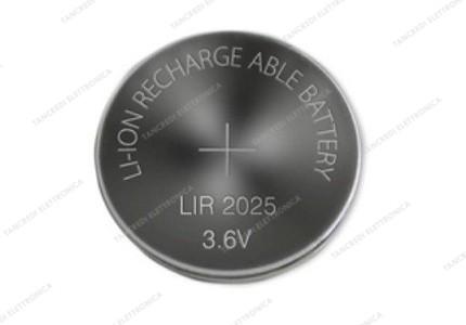 LIR2025 ricaricabile 3,6V 25mAh