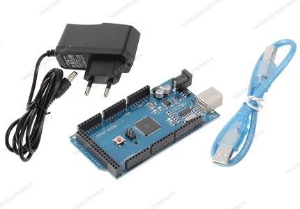 Arduino MEGA 2560 R3 CH340 clone + Alimentatore switching 9V 1A + cavo USB