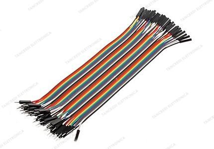 Jumpers dupont colorati femmina - femmina a 40 pin - lunghezza 20cm