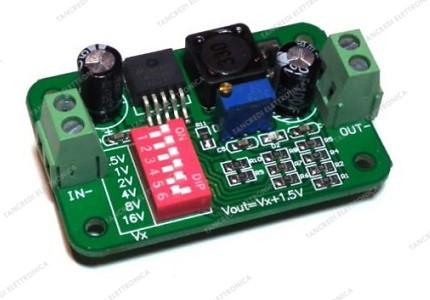 Convertitore DC-DC  LM2596 con dip switch di regolazione