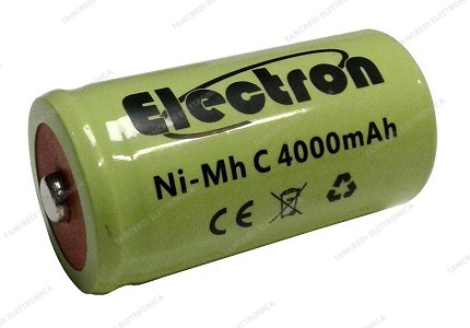 Batteria Ni-Mh 1/2 torcia C 1,2V 4000mAh