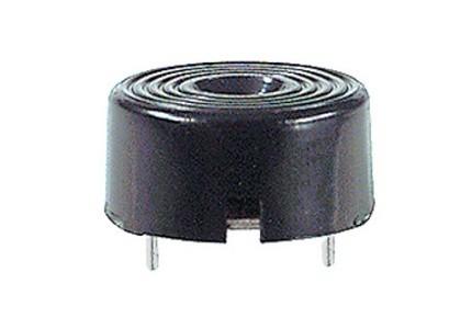 Buzzer piezoelettrico da circuito stampato con circuito oscillatore diam. 23mm 3-20V