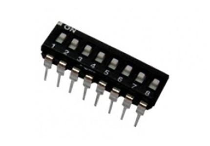 Dip switch orizzontale a basso profilo - 8 vie