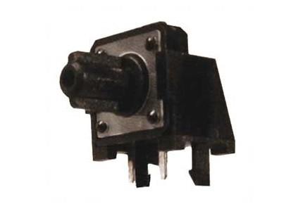 Micropulsante da circuito stampato a 90° con tasto nero - 12x12mm altezza 4,4mm - 12Vcc 50mA - confezione da 10pz