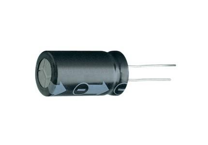 Condensatore elettrolitico verticale 1000 ore 85°C