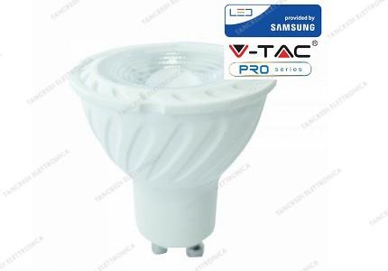 Faretto led V-TAC GU10 6.5W samsung chip - 4000k bianco naturale - VT-247
