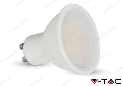 Faretto led V-TAC GU10 7W milky cover - 6000k bianco freddo - VT-2779