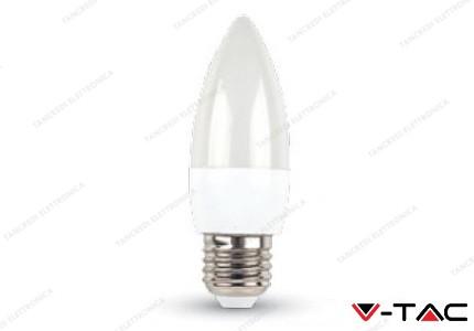 Lampadina led V-TAC a candela 6W - attacco E27 - 6000k bianco freddo - VT-1821