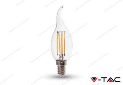 Lampadina led V-TAC a fiamma 4W - attacco E14 - 6000k bianco freddo - VT-1997
