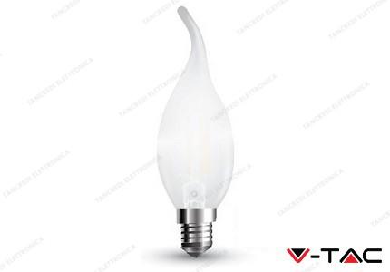 Lampadina led V-TAC a fiamma 4W frost cover dimmerabile - attacco E14 - 2700k bianco freddo - VT-2056D