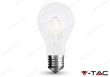 Lampadina led V-TAC A60 5W frost cover - attacco E27 - 6400k bianco freddo - VT-2045
