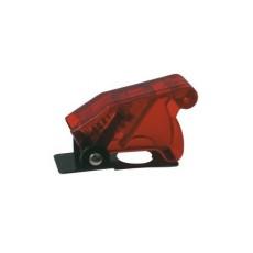 Cover di protezione per deviatori a leva - rosso trasparente