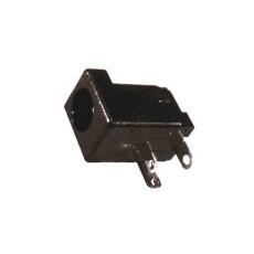 Spina di alimentazione da circuito stampato. Diametro int. 2,1mm - est. 6,3mm