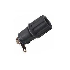 Morsetto serrafilo isolato nero da pannello per spina a banana - diametro 4mm - 15A