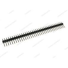 Connettore a striscia maschio da c.s. divisibile - 40 poli - lungh. contatti 6mm