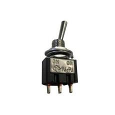 Deviatore a leva in miniatura 1 scambio 2 posizioni ON-ON in materiale termoplastico con terminali a saldare - 250V 1,5A - 125V 3A