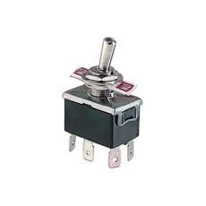 Deviatore a leva 2 scambi 2 posizioni ON-ON in materiale termoplastico con terminali a vite - 250V 10A - 125V 15A