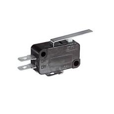 Deviatore finecorsa con leva e con terminali faston 4,8mm - 250V 5A