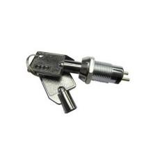 Interruttore a chiave a 2 posizioni per antifurto - diametro 15mm - 250Vca 1A
