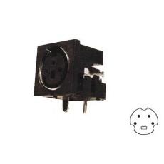 Presa minidin schermata da circuito stampato a 90° - 4 poli