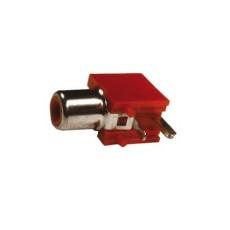 Presa RCA da circuito stampato a 90° - rossa