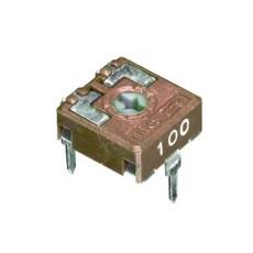 Trimmer cermet 1 giro 10 mm a montaggio orizzontale e regolazione verticale - 100 Ohm