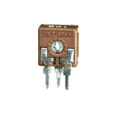Trimmer cermet 1 giro 10 mm a montaggio verticale e regolazione orizzontale - 100 Ohm