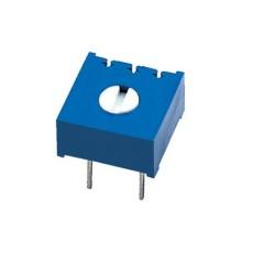 Trimmer cermet sigillato 1 giro 10mm a montaggio orizzontale e regolazione verticale - 200 Ohm