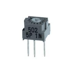 Trimmer cermet 1 giro 7 mm a montaggio orizzontale e regolazione verticale - 100 Ohm